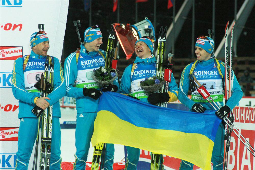 Чемпионат мира 2011.  Мужская сборная Украины на подиуме чемпионата мира.